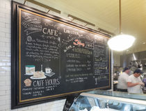 Cafe menu board. At the Stonewall Kitchen in York, Maine, USA Stock Photography