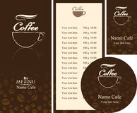 Cafe menu Royalty Free Stock Photography