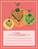 Cafe menu cover Stock Photo