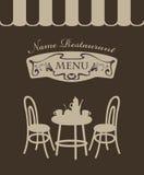 Cafe menu Stock Photo