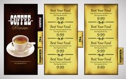 Cafe menu design Stock Photos