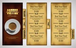 Cafe menu design Royalty Free Stock Photography