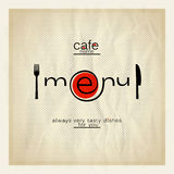 Cafe menu design. Stock Images