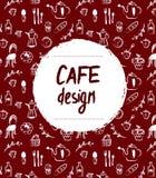 Cafe menu design in retro sketch style Royalty Free Stock Photos