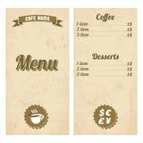 Cafe menu design with treasure map Stock Photos
