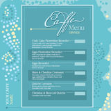 Cafe menu dinner Royalty Free Stock Photo