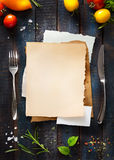 Cafe menu restaurant brochure. Food design template Royalty Free Stock Image