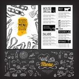 Cafe menu restaurant brochure. Food design template. Stock Photo