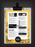Cafe menu restaurant brochure. Food design template. Stock Photography