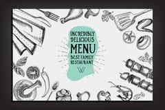 Cafe menu restaurant brochure. Food design template. Royalty Free Stock Photography
