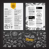 Cafe menu restaurant brochure. Food design template. Stock Image