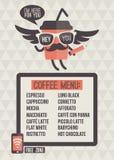 Cafe menu. Seamless background and design elements royalty free illustration