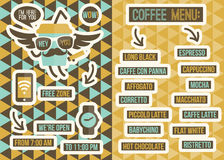 Cafe Menu. Seamless Backgrounds And Design Elements Royalty Free Stock Photography