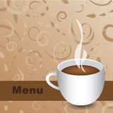 Cafe Menu Vector. Abstract background cafe menu design Royalty Free Stock Images