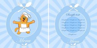 Cafe menu, vector illustration. Stock Image
