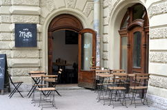 Cafe Mitte in Saint-Petersburg, Russia Royalty Free Stock Images