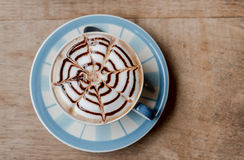 Cafe Mocha, Nice hot coffee, top view stock image