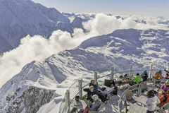 Cafe on the mountain. Brevant restaurant, Chamonix, Haute-Savoie, French Alps, France Stock Images