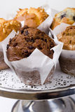 Cafe muffins royalty free stock images