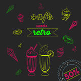 Cafe neon vector illustration