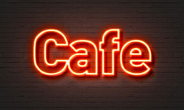 Cafe neon sign Royalty Free Stock Photos