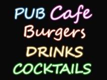 cafe neon znak Zdjęcia Royalty Free