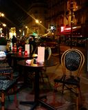 Cafe. Night at a parisien cafe Stock Photo