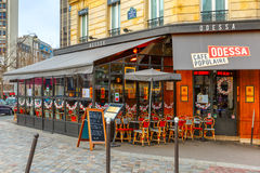 Cafe Odessa on the Boulevard Montparnasse in Paris Royalty Free Stock Photos