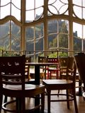 cafe okno Zdjęcia Royalty Free