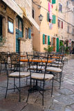 Cafe in the old town of Kotor Royalty Free Stock Photo