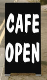 Cafe open Stock Photos