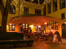Cafe outdoor. A outdoor cafe in Odense Stock Photography