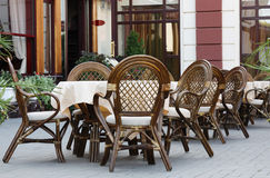 Cafe outdoors Stock Photography