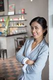 Cafe owner Stock Photo