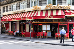 cafe paris Royaltyfri Foto
