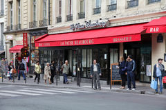 cafe paris Arkivbild
