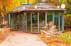 Cafe in the park in Spain Stock Photos
