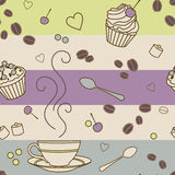 Cafe-pattern Royalty Free Stock Images