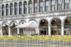 Cafe in the Piazza San Marco Royalty Free Stock Images