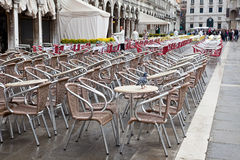 Cafe in the Piazza San Marco Stock Images