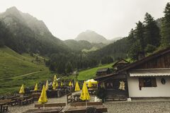 Cafe in picturesque valley