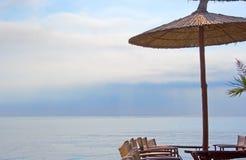 cafe plażowa Zdjęcia Stock