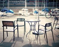 Cafe in the port Royalty Free Stock Images