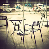 Cafe in the port Royalty Free Stock Image