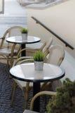 cafe powietrzna otwarta Obraz Royalty Free