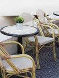 cafe powietrzna otwarta Obrazy Stock