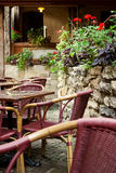 cafe powietrzna otwarta Lviv Ukraina Fotografia Stock