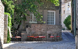 A Cafe in a pretty French village Stock Image