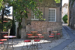 A Cafe in a pretty French village Stock Photos