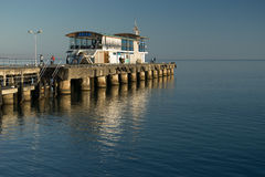 Cafe on the quay. In Sukhum Royalty Free Stock Image